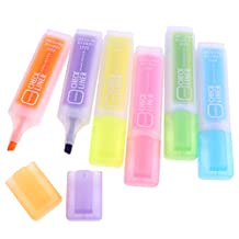 D DOLITY 6 Colors Fluorescent Marker Pens Highlighter Liquid Chalk Pen Tip Markers