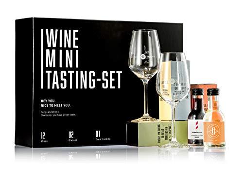 GEILE WEINE Wein Mini Tasting Set (12 x 0,1) Deutscher Weisswein, Rotwein und Rosé im Probierset