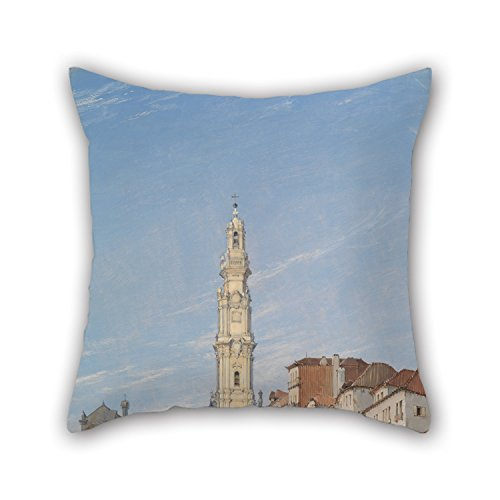 Uloveme Throw Pillow Covers Of Oil Painting James Holland - Torre Dos Clerigos, Oporto, Portugal,for Car Seat,teens Boys,home Theater,gf,boys,lover 18 X 18 Inches / 45 By 45 Cm(two (Holland Costume City)