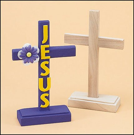 Christian Brands Unfinished Wood Standing Latin Cross, 7 1/4 Inch