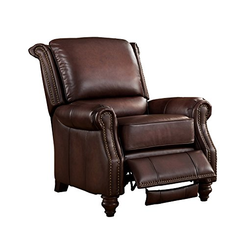 Leggett Leather Recliner (Amax Leather Churchill 100% Leather Recliner, Brown)