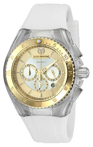 Technomarine Women's Cruise Stainless Steel Quartz Watch with Silicone Strap, White, 25 (Model: TM-116002