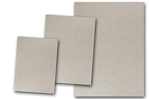Premium Pearlized Metallic Textured Winter Grey White Card Stock 20 Sheets - Matches Martha Stewart Winter Grey - Great for Scrapbooking, Crafts, Flat Cards, DIY Projects, Etc. (5 x 7) ()