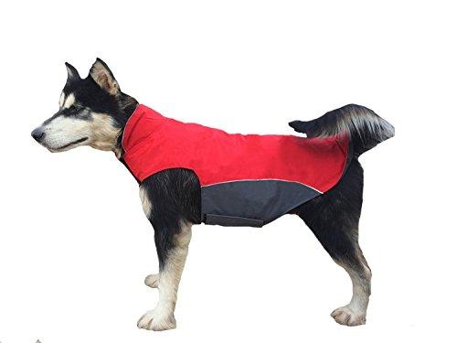 Bonawen Autumn Winter Dog Coat Waterproof for Extra Large Dog with Leash Hole, Chest up to 39