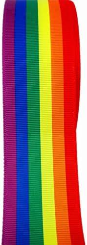3 Inch,2 Inch,1-12 Inch,78 Inch,58 Inch,38 Inch Straight Ally Pride Flag Printed Grosgrain Ribbons