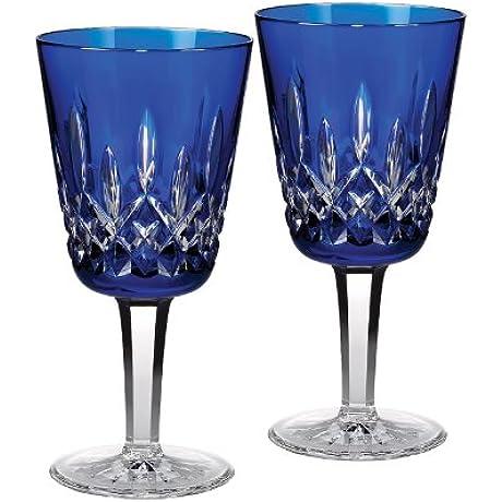 Lismore Cobalt Goblet Set Of 2