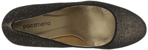 Paco Mena Loisach 5059 - Zapatos clásicos de tela para mujer Dorado