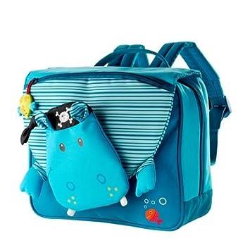 Lilliputiens 86174 Arnold - Mochila de Preescolar, diseño de hipopótamo, Color Azul: Amazon.es: Equipaje
