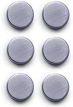Zeller 11203 Conjunto de Imanes, Acero Inoxidable, Gris, 2.7x2.7x3 cm, 6 Unidades