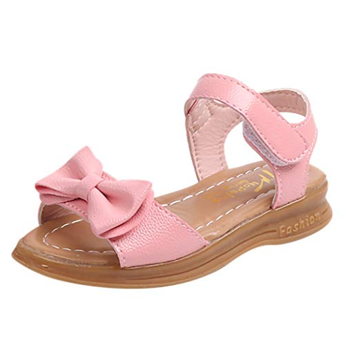 CCFAMILY Children Toddler Infant Kids Baby Girls Bowknot Princess Casual Shoes Sandals Pink