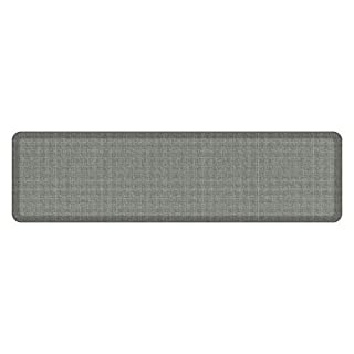 "NewLife by GelPro Anti-Fatigue Designer Comfort Kitchen Floor Mat, 20x72"", Tweed Grey Goose Stain Resistant Surface with 3/4"" Thick Ergo-foam Core for Health and Wellness"