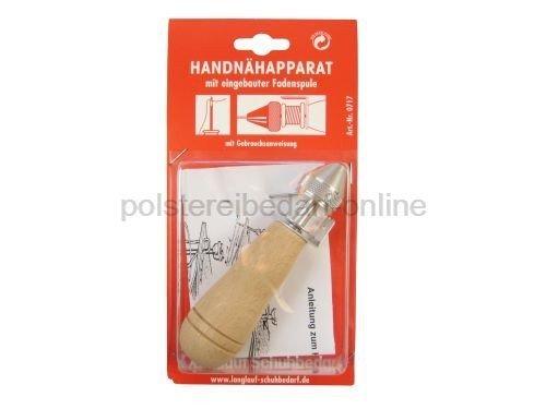 Handnähapparat mit eingebauter Fadenspule und einer stabilen Nadel