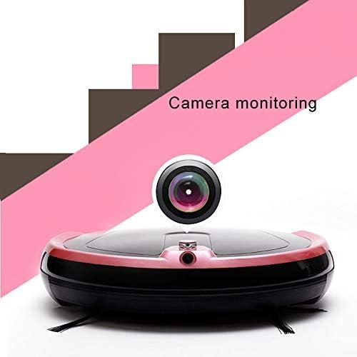 Mao ZE Qu Robot de Balayage Intelligent à la Maison entièrement Automatique avec Surveillance par caméra, Aspiration puissante 2000Pa, adapté aux Tapis Fins et sols durs