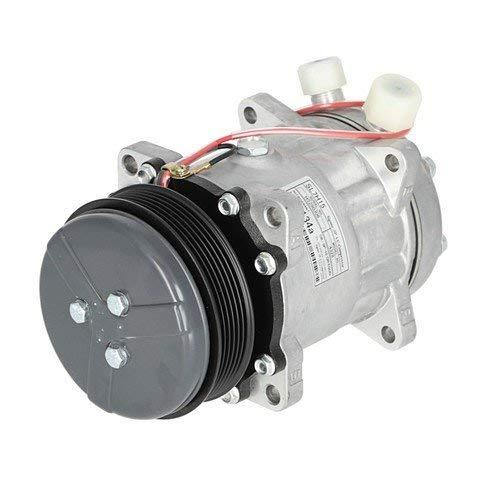 Air Conditioning Compressor - Aftermarket w/Clutch New Holland 2450 TS90 TS110 HW320 LS190 HW305 HW300 TS100 1089 2550 1095 TS115 HW340 9827954 Ford 7740 8240 7840 6640 5640 8340 - New Holland Bale