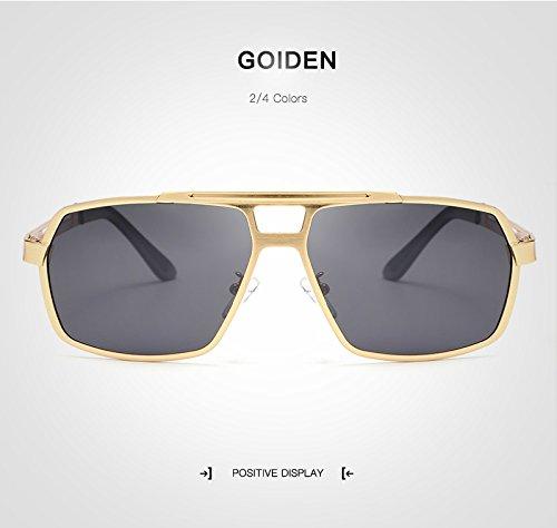 Gozlogo Golden Conduite avec Color GP Hommes Lunettes de Occasionnel Lunettes Soleil Gunes Moto Polarisant Golden Cas Polarisés Si Verres Cool Weichunya Hommes AZXwRR