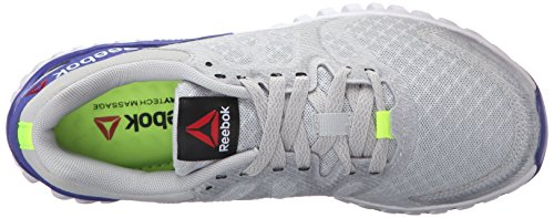Reebok Womens Twistform Blaze 2.0 MTM Running Shoe Skull Grey/Solar Yellow/White/Ultima Purple LpmGC