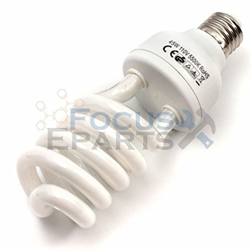Fluorescent Tamper (Fashion 4x 45W 5500K Fluorescent Photo Studio Energy Saving Day Light Bulbs Compact Lamp)