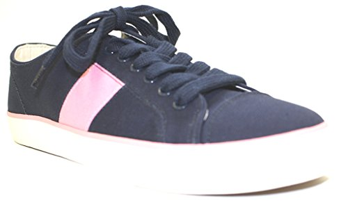Chaps Women's Wren Fashion Sneaker, Navy/Pink, 8.5 B US