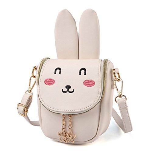 Bag wine Purse Fashion Case Long Crossbody Ear Wallet Holder Shoulder Card Phone Beige Pouch Red Rabbit Women Junlinto XYwF7xY