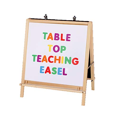 Crestline 2-in-1 Table Top Teaching Magnetic Whiteboard & Hardboard Easel