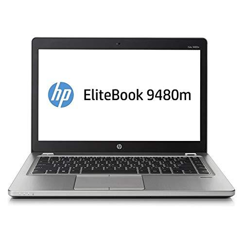 (Renewed) HP Elitebook FOLIO 9480M (CORE I5 4TH GEN/4GB/128GB SSD/WEBCAM/14''/DOS) (Silver)
