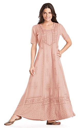 [HolyClothing Timandra Victorian Vintage Lace Renaissance Dress - 2X-Large - Cotton Candy] (Pink Renaissance Dress)