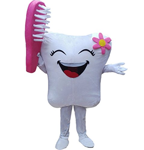 Huiyankej Tooth Mascot Costume Tooth Costume (Medium, -