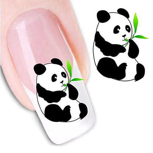 Wffo Women's DIY Nail Sticker, Water Transfer Stickers Finger Nail Art Decals (XF1237) -