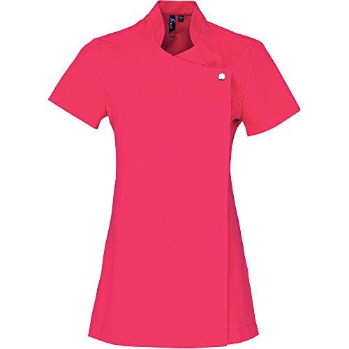 Premier Ladies Blossom Short Sleeve Beauty & Spa Tunic Black,White Hot Pink