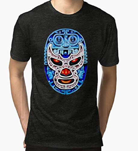 Feel-Ink Mexican Lucha Libre Wrestling Demon Blue Demonio Azul Mexicano T-Shirt For Men Women
