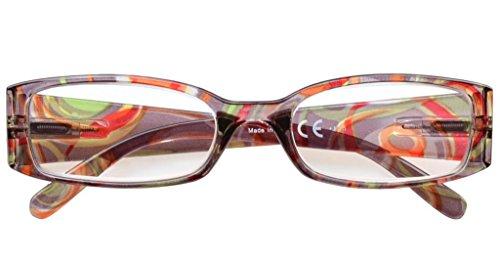 4-Pack Beautiful Colors Spring Hinge Rectangular Reading Glasses +1.25