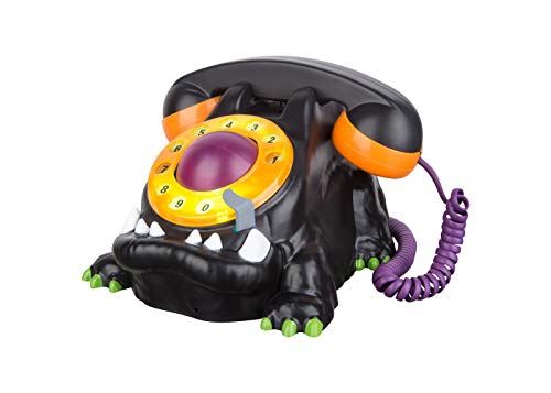 Animated Telephone - 8 Inch Animated Monster Spooky Haunted Halloween Telephone with Light and Sound