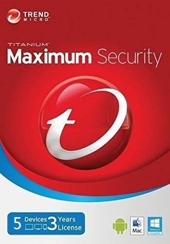 Trend Micro Maximum Security 2019 version12 5 Devices 3 Years for PC, Mac, Android & IOS by Trend Micro
