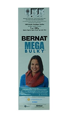 Bernat Mega Bulky, 7.0 Ounce, 3 Pack Bundle, Jumbo #7 Acrylic (Dark Grey Heather)