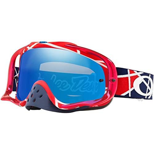 b58f4fb50a0 Oakley Crowbar MX Troy Lee Design Series Adult Off-Road Motorcycle Goggles  - Metric Red White Black Ice Iridium One Size