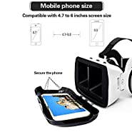 3D VR Virtual Reality Glasses with Handle Set Remote Controller Stereo Headphones HiFi Headset 360 Degree Panoramic View