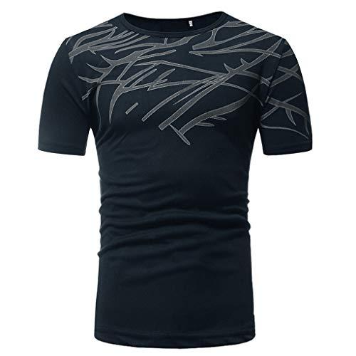 Slim Impression Amlaiworld Manche Top Fit Noir Hommes Courte T Blouse shirt Été Casual qxtrTIt