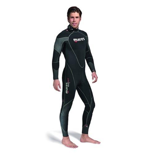 Mares Men's Flexa 5-4-3mm One-Piece Wetsuit, Black Grey, (Mens One Piece Wetsuit)
