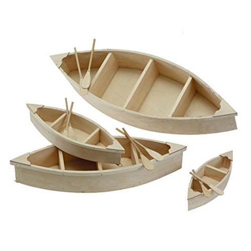 Unfinished Wood Canoe 9 inchesWith Paddles Craft Project