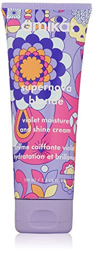 Dark Blonde Violet - amika Supernova Blonde Violet Moisture and Shine Cream, 3.3 Oz.