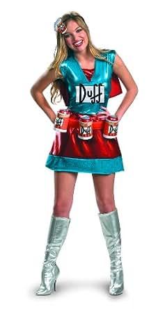 Disfraz 198622 Los Simpsons - Duffwoman Deluxe Adult Costume - Azul - Peque-o - 4-6