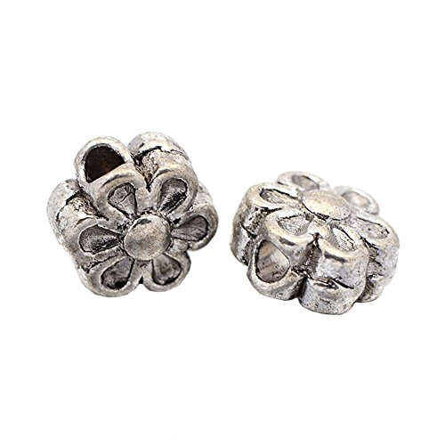 pandahall-100-piece-tibetan-silver-antique-silver-flower-bead-spacers-lead-free-and-cadmium-free-nic