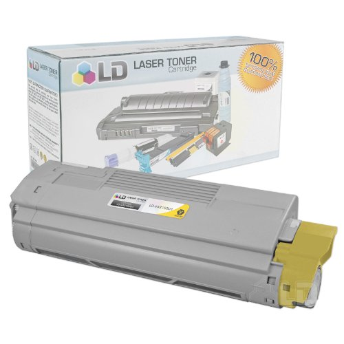 LD © Compatible Okidata 44315301 Yellow Laser Toner Cartridge for use in OKI C610cdn, C610dn, C610dtn, & C610n