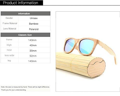 Productos Color Calidad de de como de Hechas Mano Blue para Amigos de Black Sol de Hombre bambú polarizadas para Mujeres Cicongzai Sol Retro Gafas Alta Gafas Regalos Madera a dqnFwtWPA