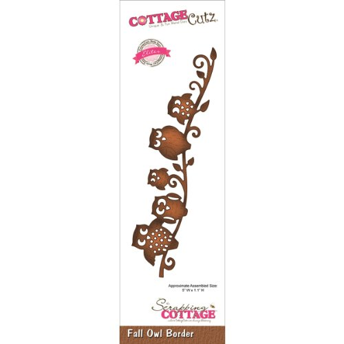 CottageCutz CCE068 Elites Die Cuts, 5 by 1.1-Inch, Fall Owl Border -
