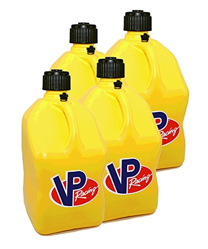 4 Pack VP 5 Gallon Square Yellow Racing Utility Jugs (Best Pump Gas For Racing)