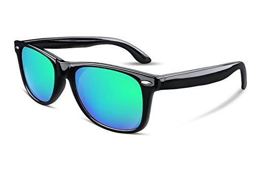 FEISEDY Great Classic Polarized Sunglasses Men Women Mirrored Lens - Wayfarer Sunglasses Mirrored