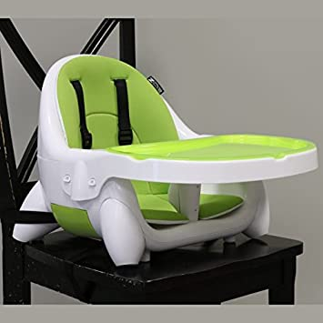 ZOE 4 In 1 BEST PORTABLE BOOSTER HIGH CHAIR SEAT (Lime Green)