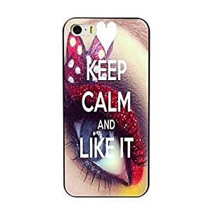 SHOUJIKE Keep Calm and Like It Design Hard Case for iPhone 4/4S
