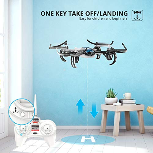 Holy Stone HS170 Mini Drone for Kids & Adults, RC Nano Quadcopter with 2 Batteries, Altitude Hold, Headless Mode, 3D Flips, One Key Take-Off and Speed Adjustment, Easy Toy for Beginners
